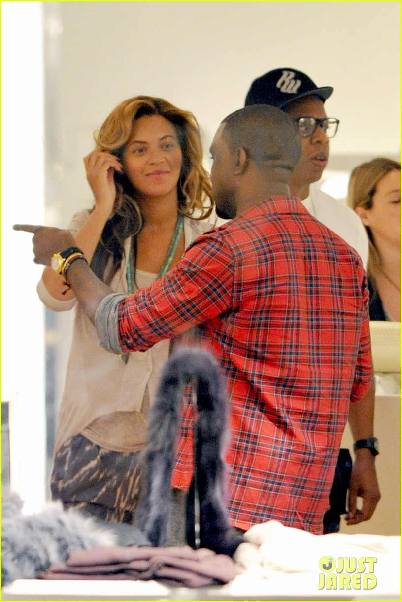 beyonce shopping jay z kanye west 03