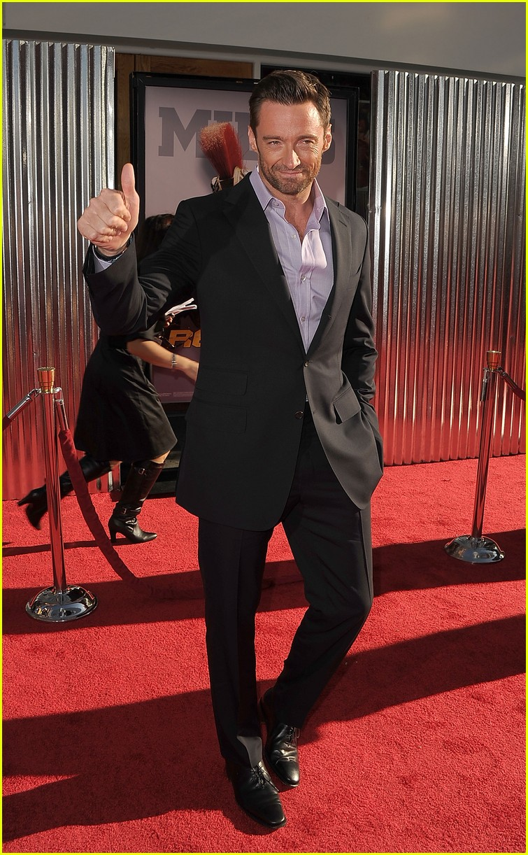 hugh jackman real steel universal city premiere 032586228