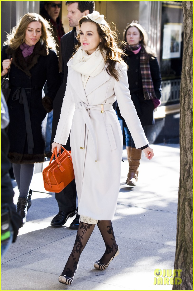 leighton meester white coat gossip set 102594732