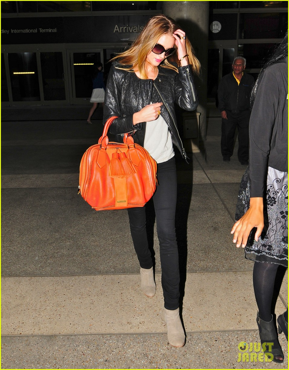 rosie huntington whiteley lax orange purse 052593078