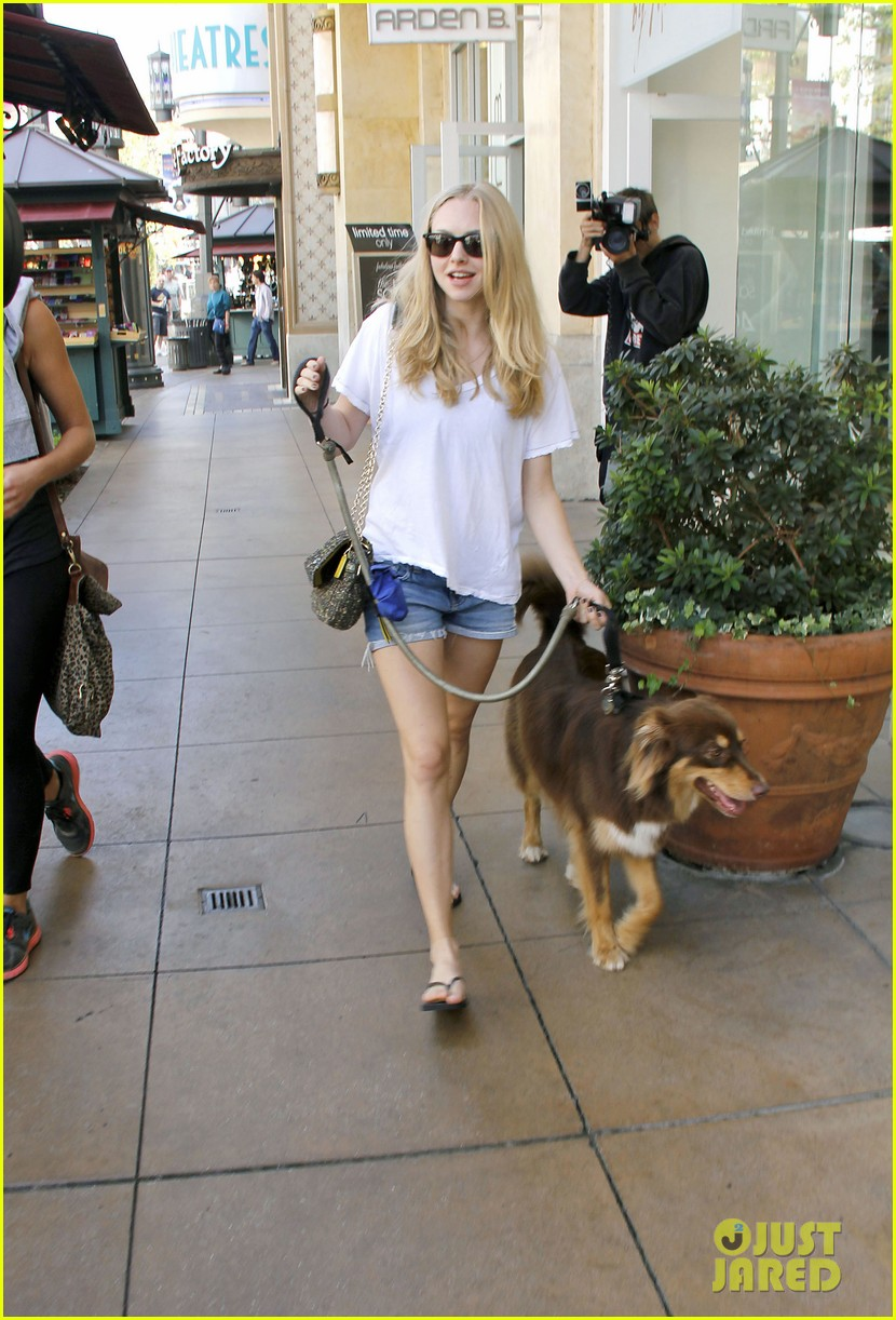 amanda seyfrieds day out with finn 12