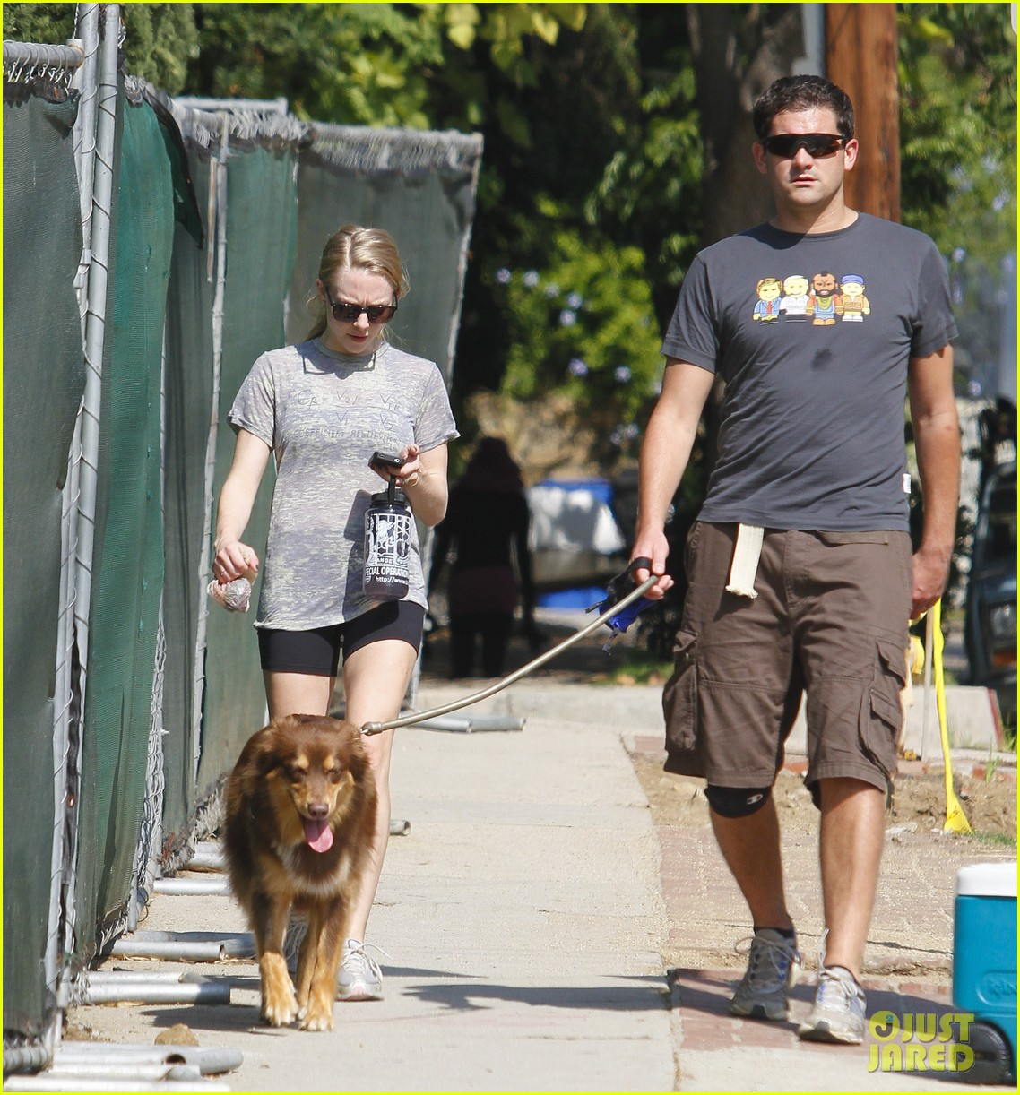 amanda seyfried dog walk friend 01