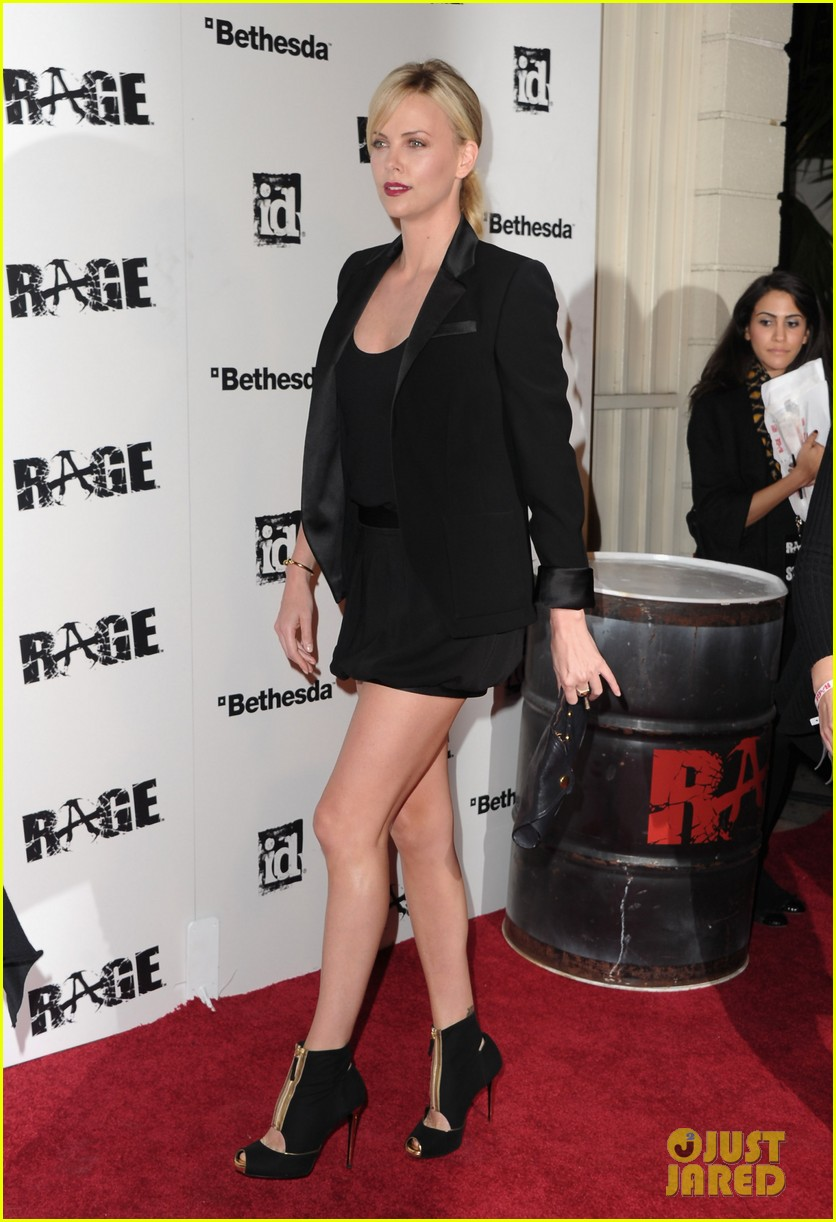 charlize theron stacy keibler rage launch party 032585626