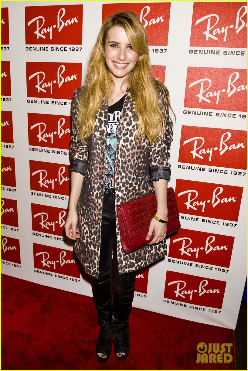 olivia wilde ray ban raw sounds party with emma roberts 032589713