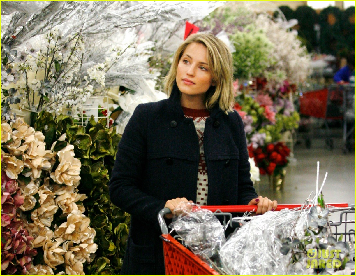 dianna agron christmas decoration shopping 012603234