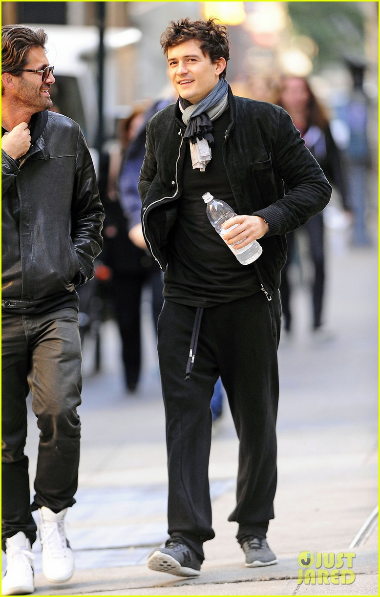 orlando bloom water bottle nyc workout 05