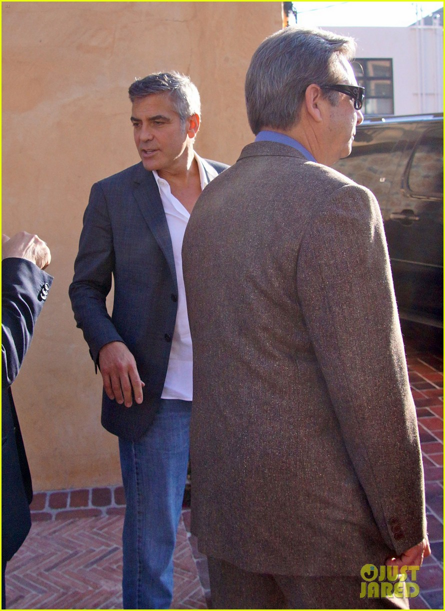 george clooney beau bridges lunch 09