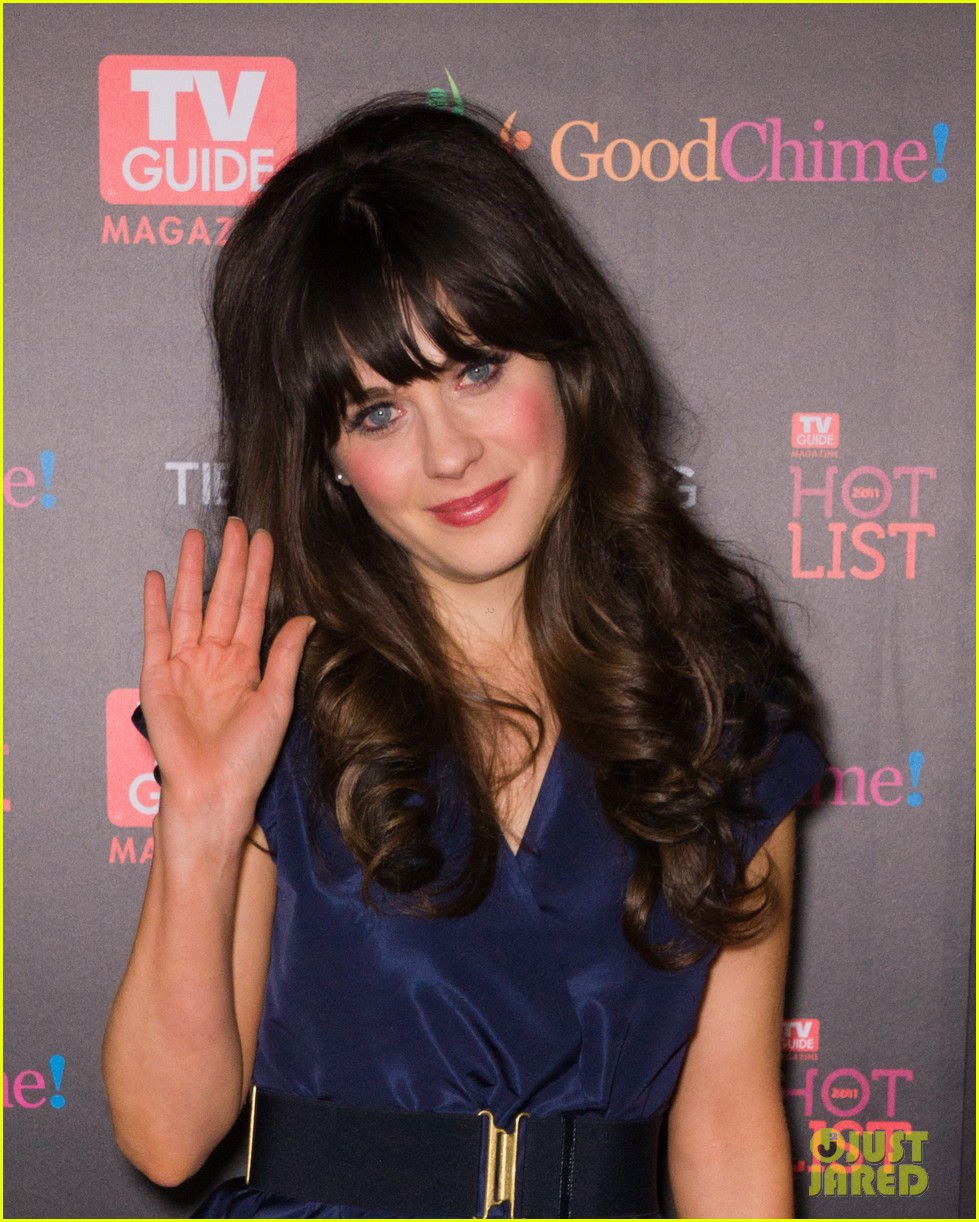 zooey deschanel tv guide magazine hot list 022597936