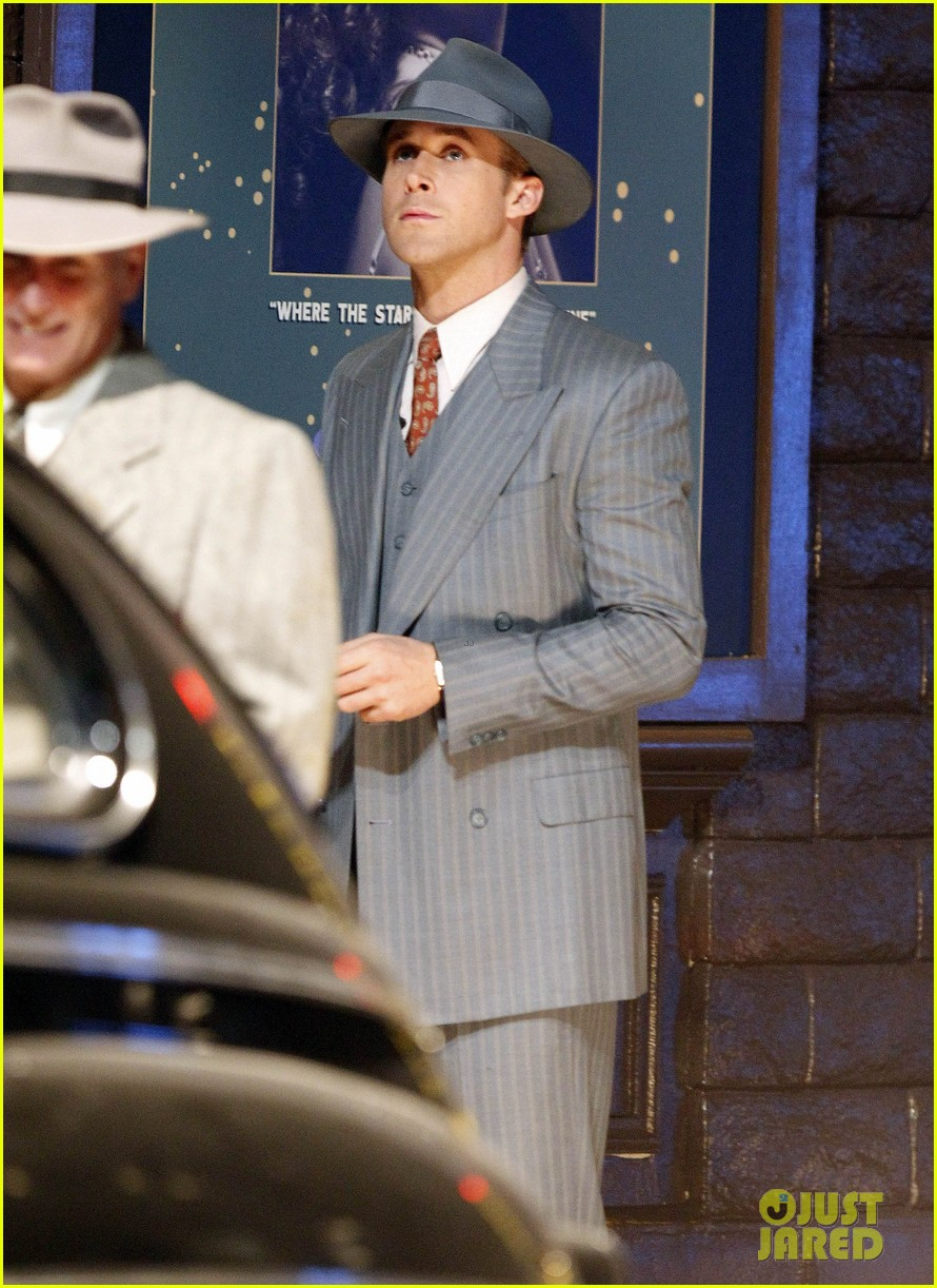 ryan gosling late night on gangster squad set 062605130