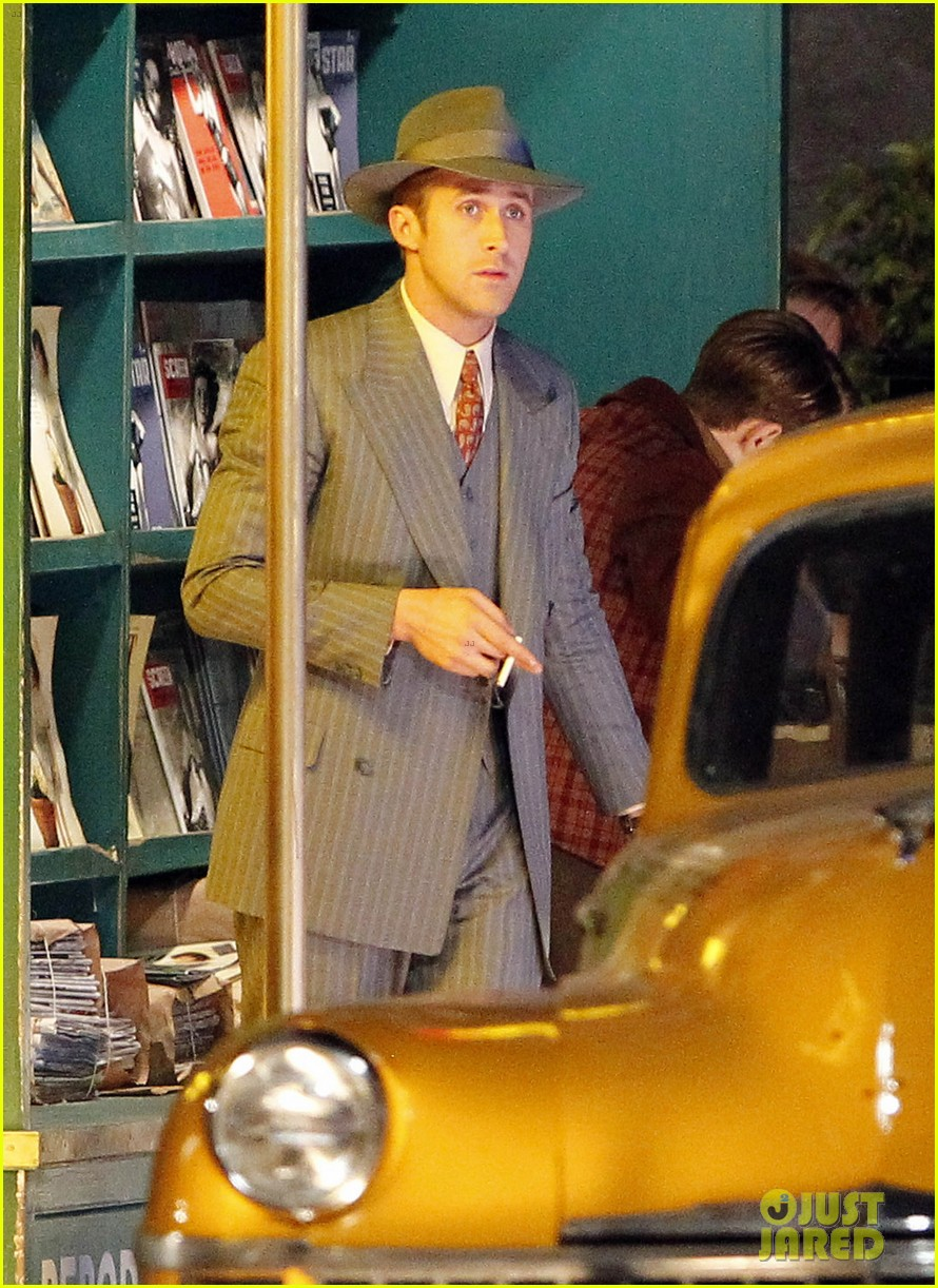 ryan gosling late night on gangster squad set 132605137