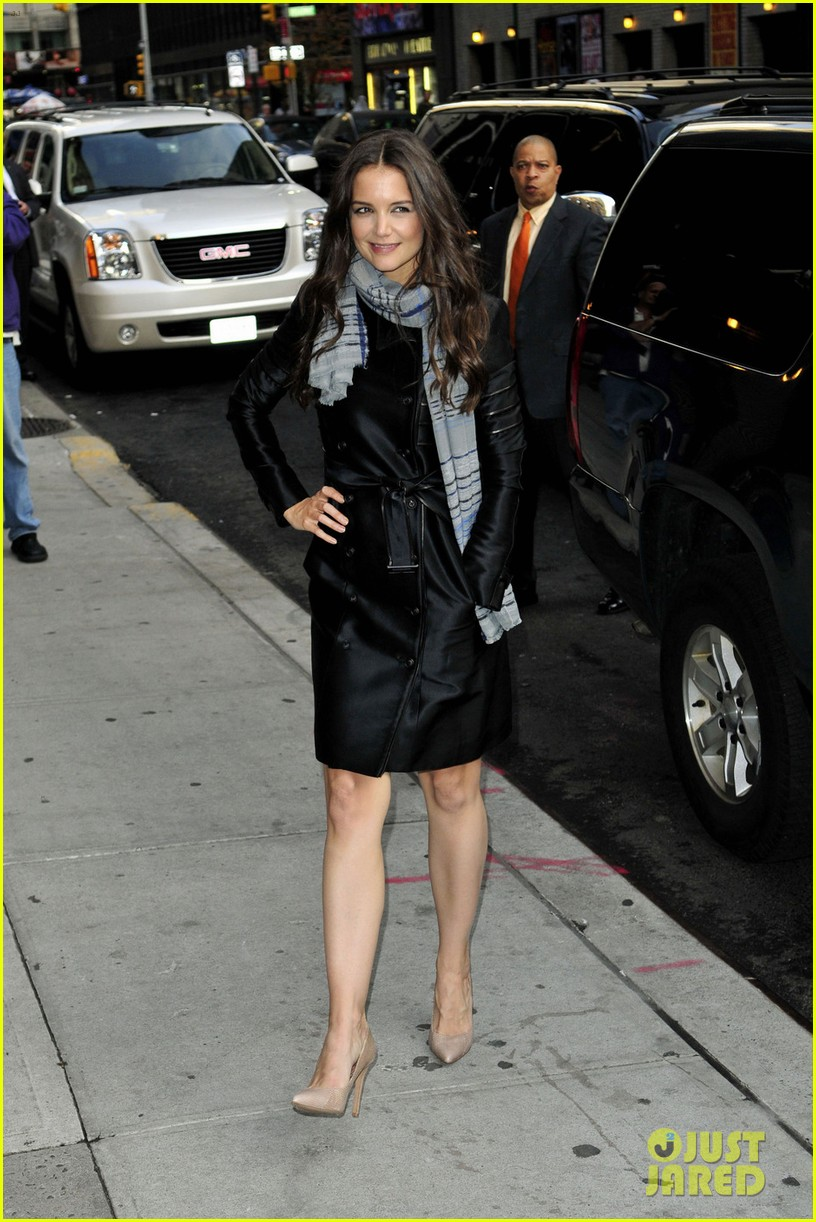katie holmes late show with letterman visit 022598973