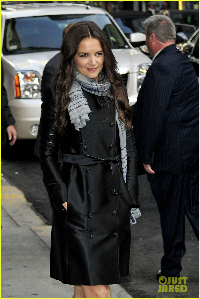 katie holmes late show with letterman visit 052598976