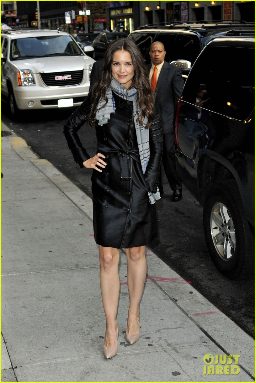 katie holmes late show with letterman visit 082598979