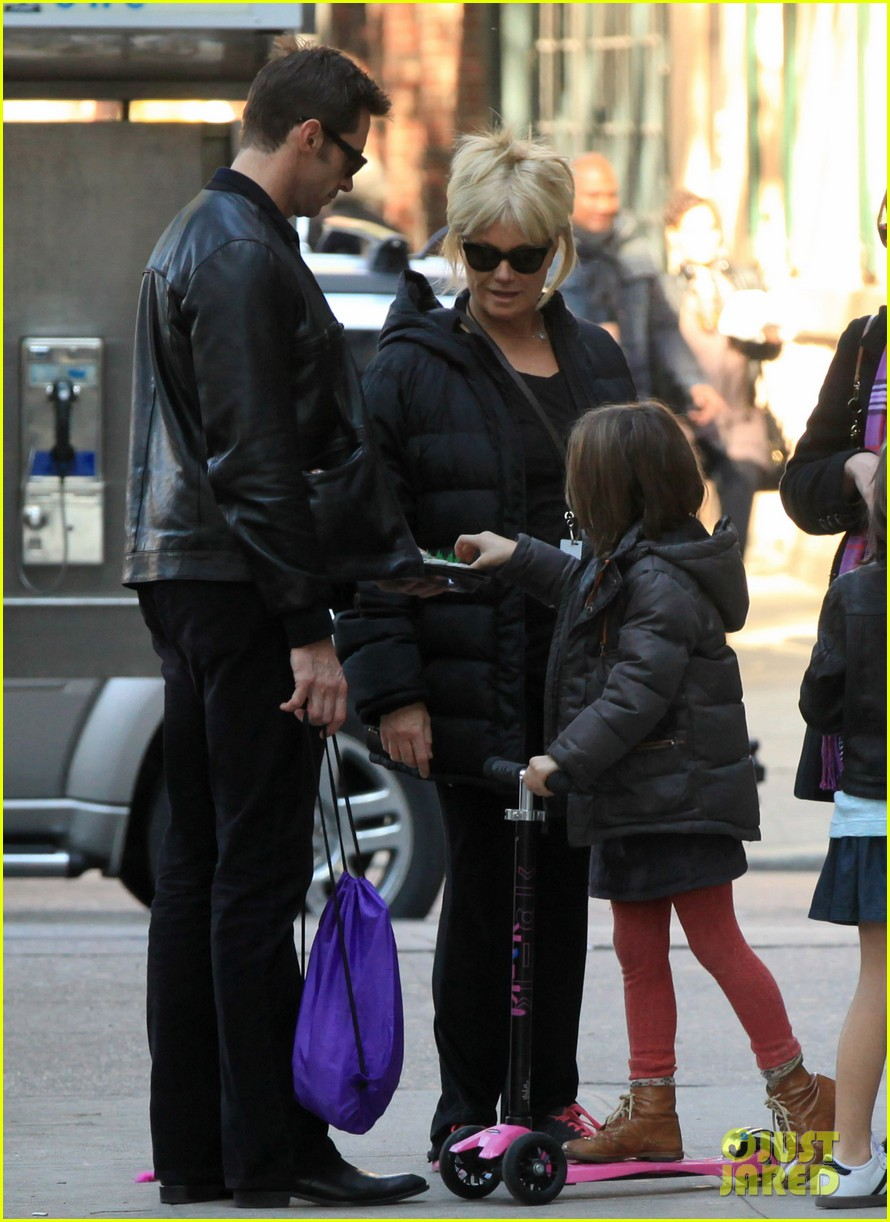 hugh jackman deborra lee furness day out with ava 022596287