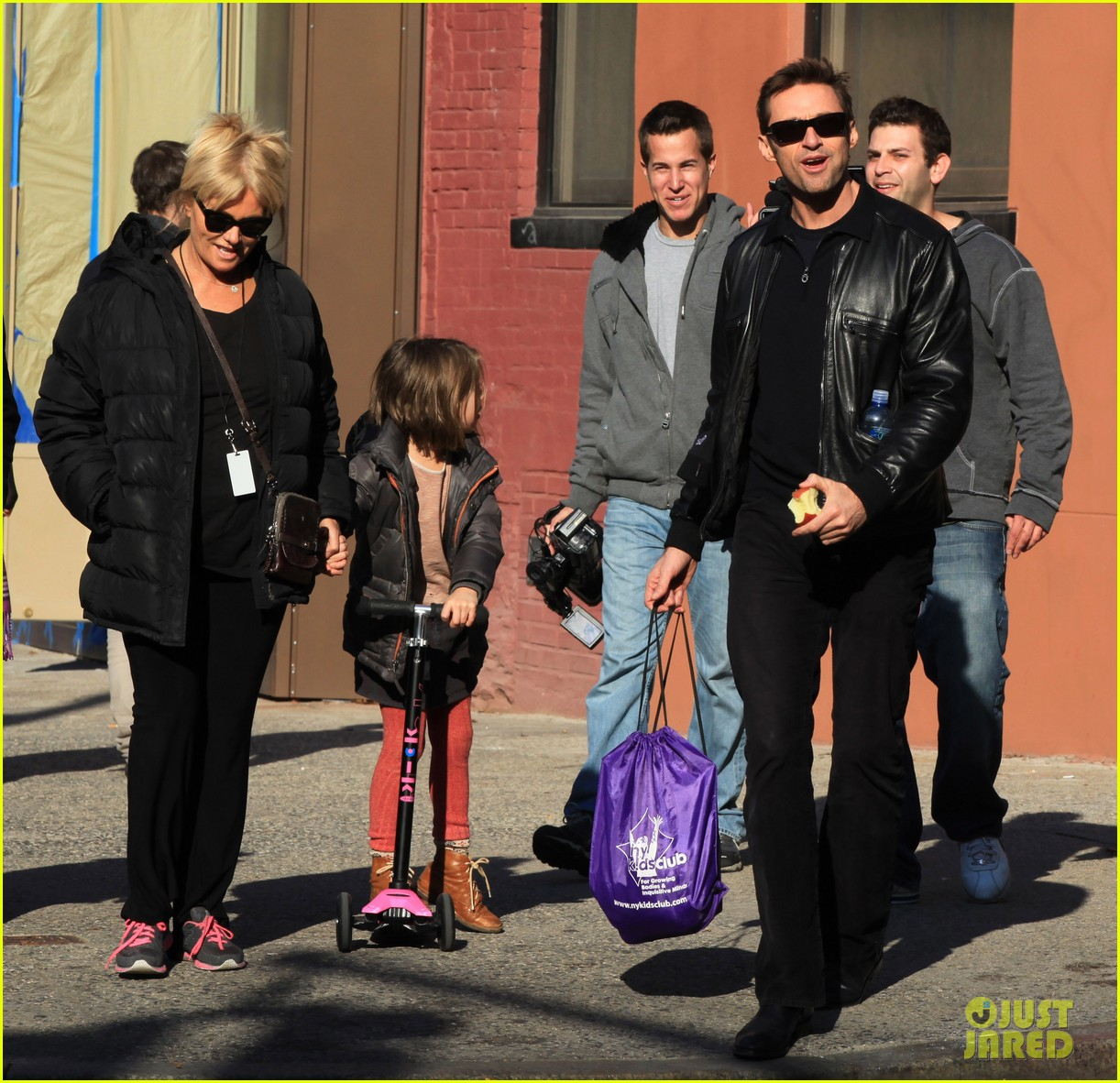 hugh jackman deborra lee furness day out with ava 052596290