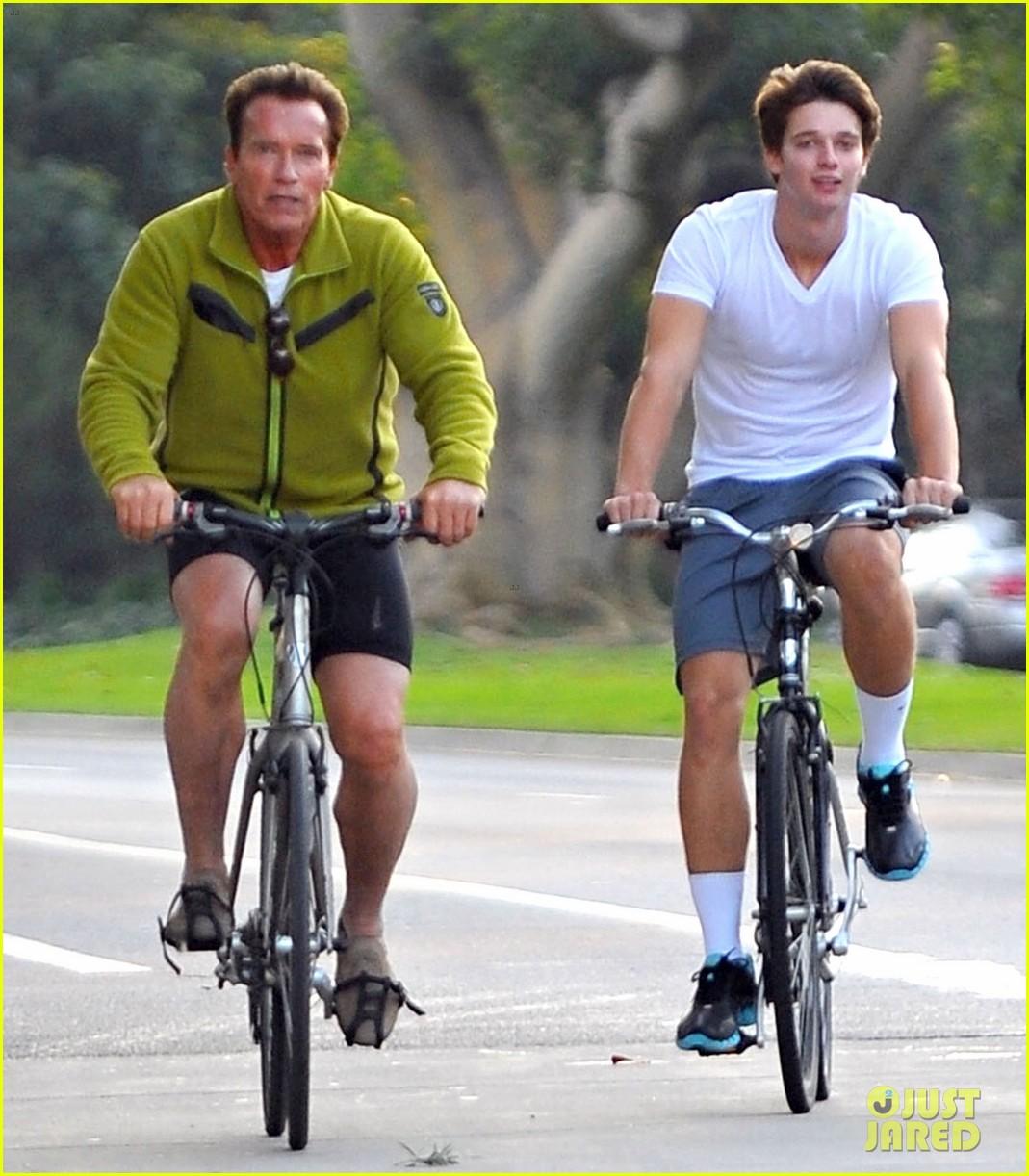 patrick arnold schwarzenegger sunday bike riders 082604536