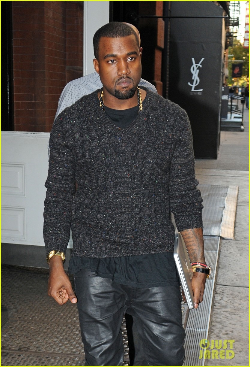 1b71ec3616a7 Fresh Celeb Kanye West 1 of 1 Robot Face Goyard Backpack Source · Kanye West  Snakeskin Backpack in NYC Photo 2596229 Kanye West