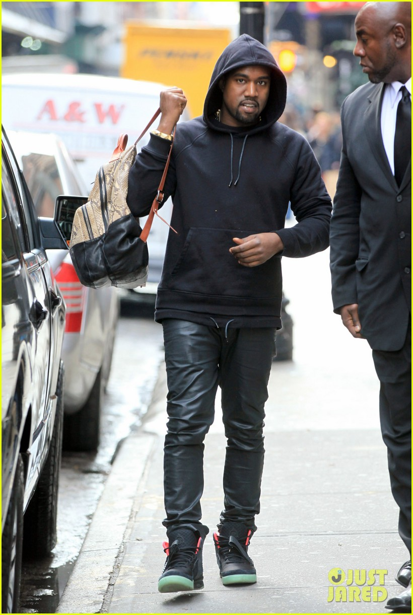 Kanye West Snakeskin Backpack In Nyc Photo 2596230