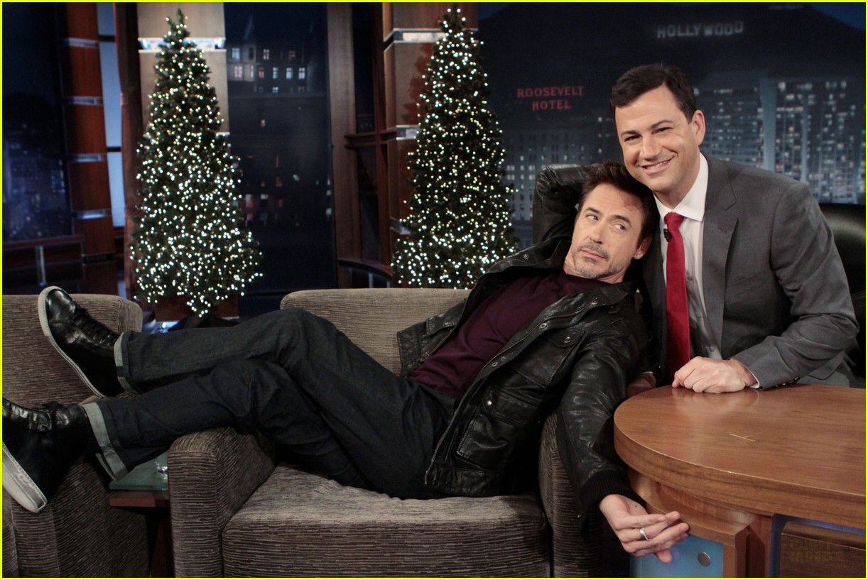 Jimmy Kimmel Christmas.Robert Downey Jr I Am Not A Method Actor Photo 2610612
