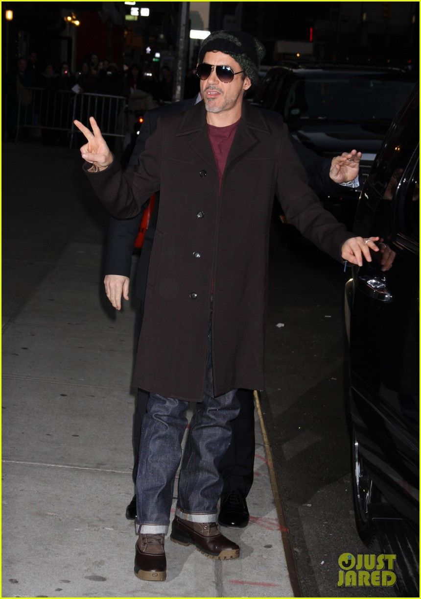 robert downey jr late show with david letterman 01