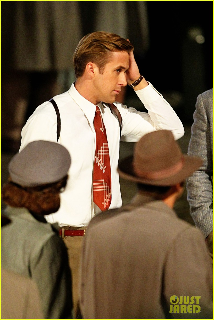 Ryan Gosling Gangster Squad Hits Hollywood Boulevard Photo