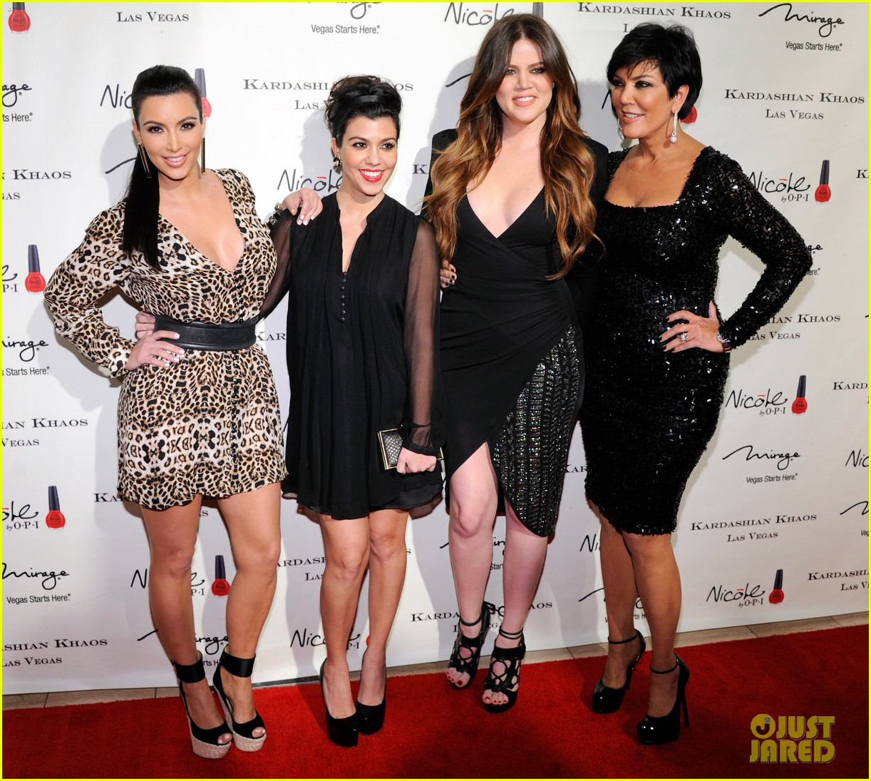 the kardashian family celebrate kardashian khaos opening 042610462