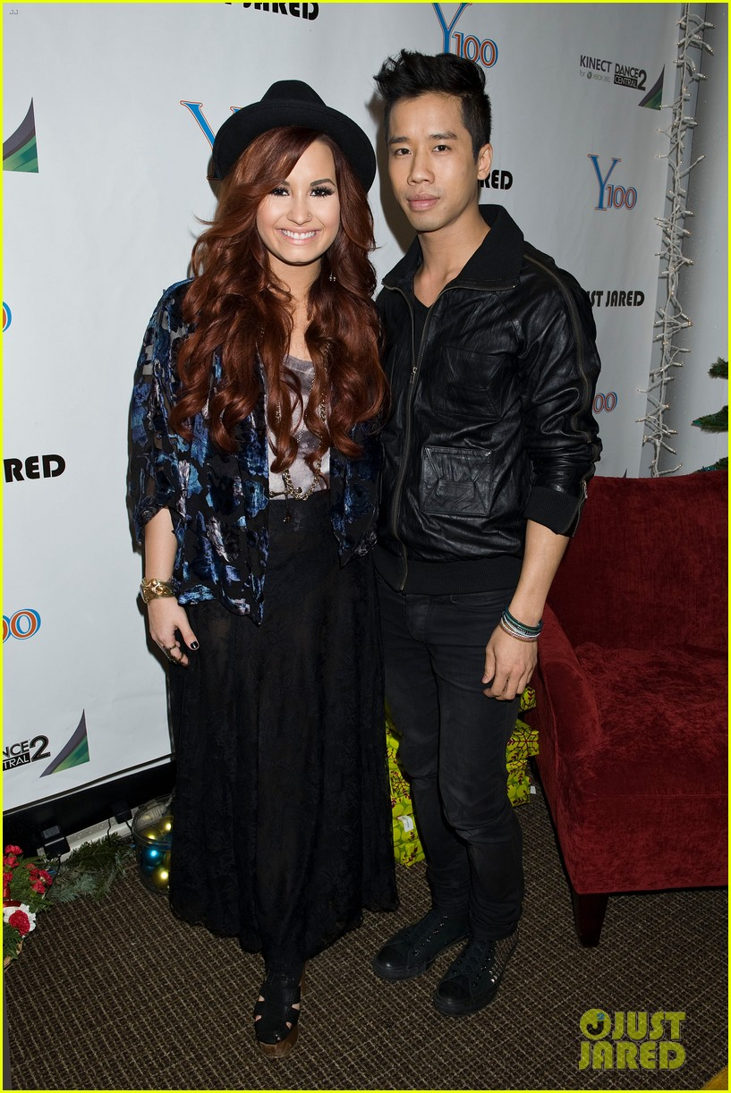 demi lovato avril lavigne y100 jingle ball 01