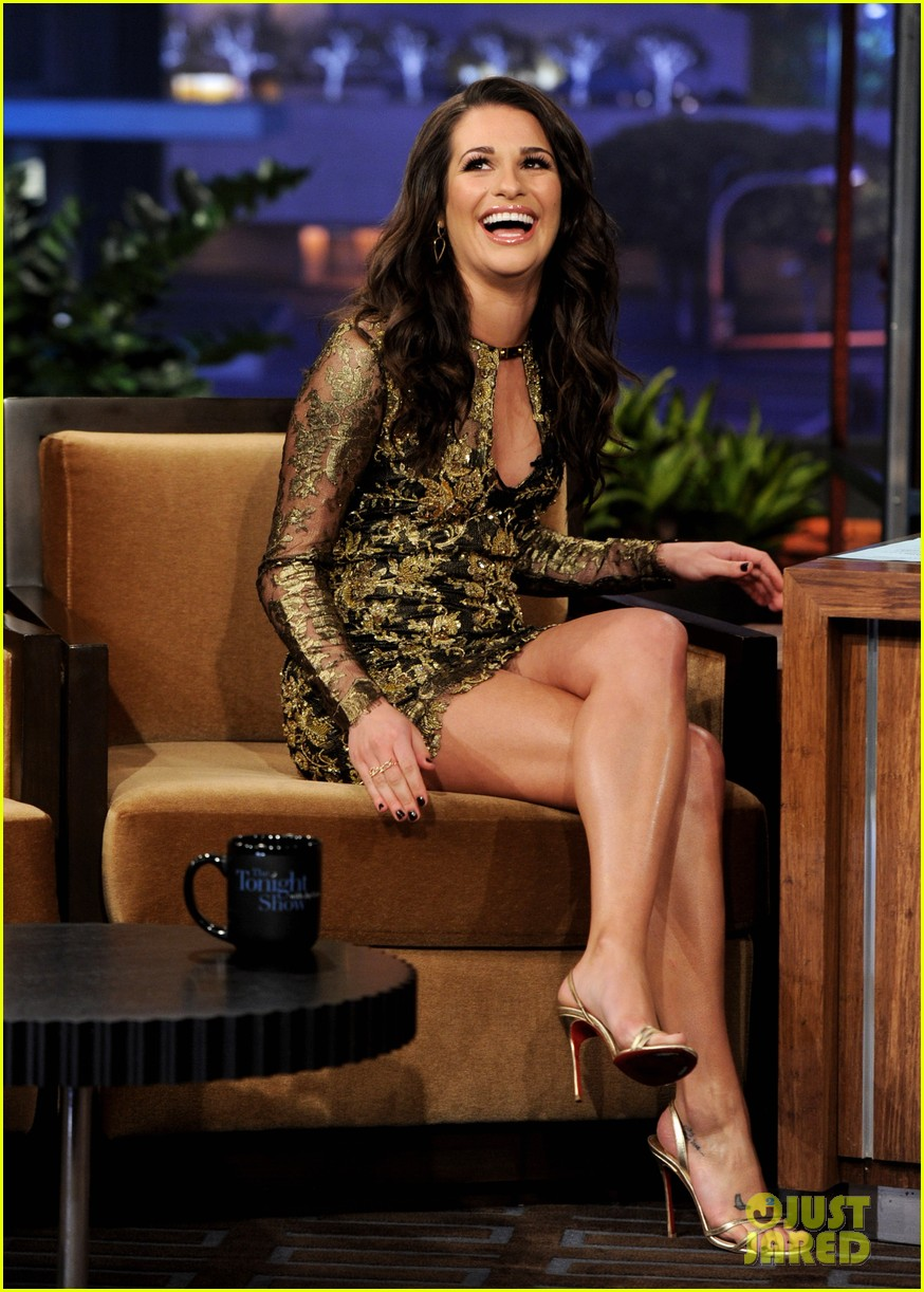 lea michele tonight show jay leno 032608057
