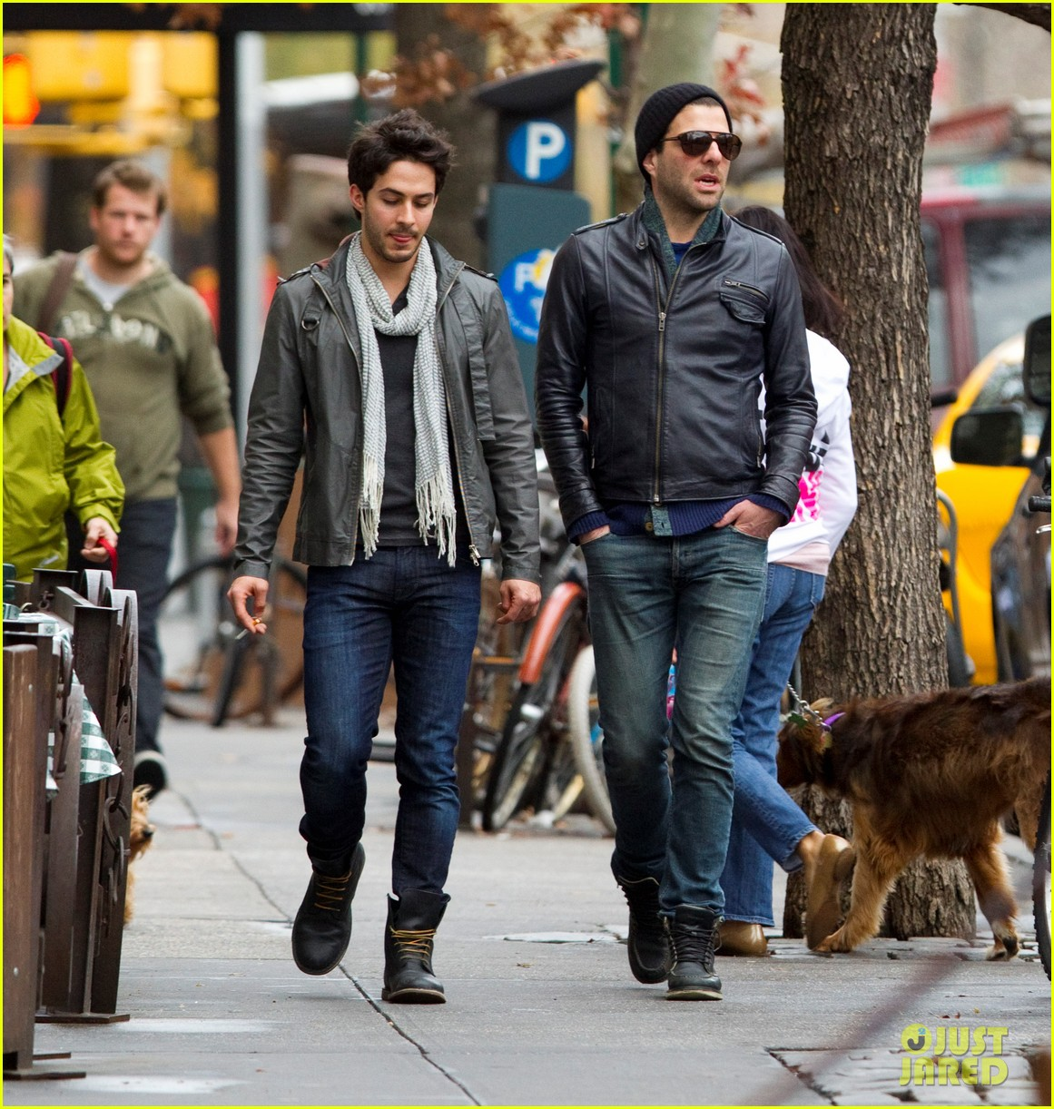 zachary quinto friend stroll nyc 03