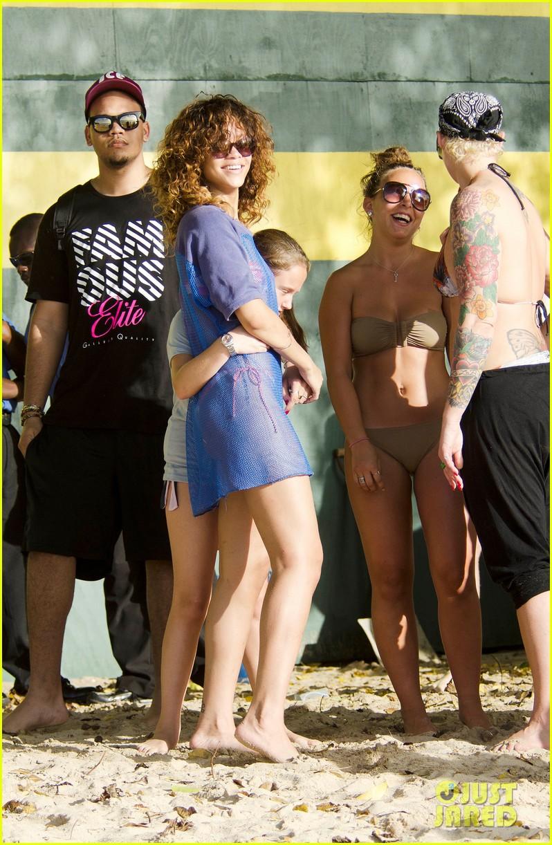 rihanna sheer cover up bikini 012613173