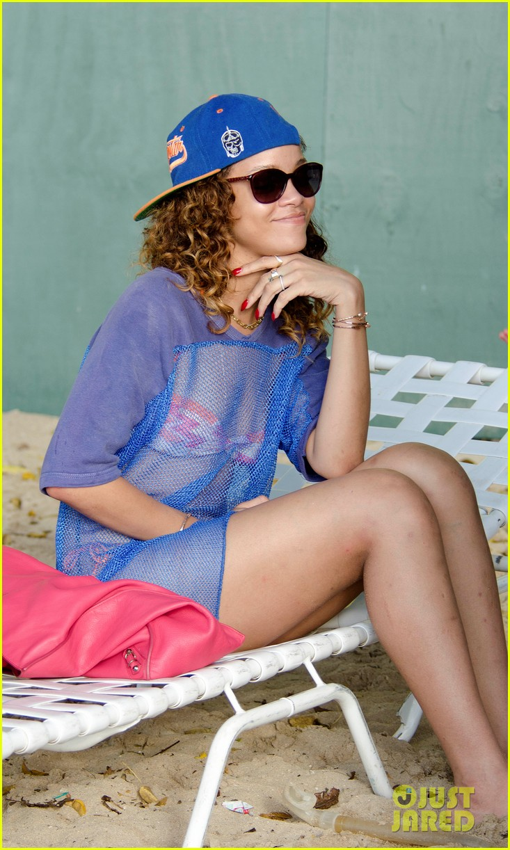 rihanna sheer cover up bikini 052613177