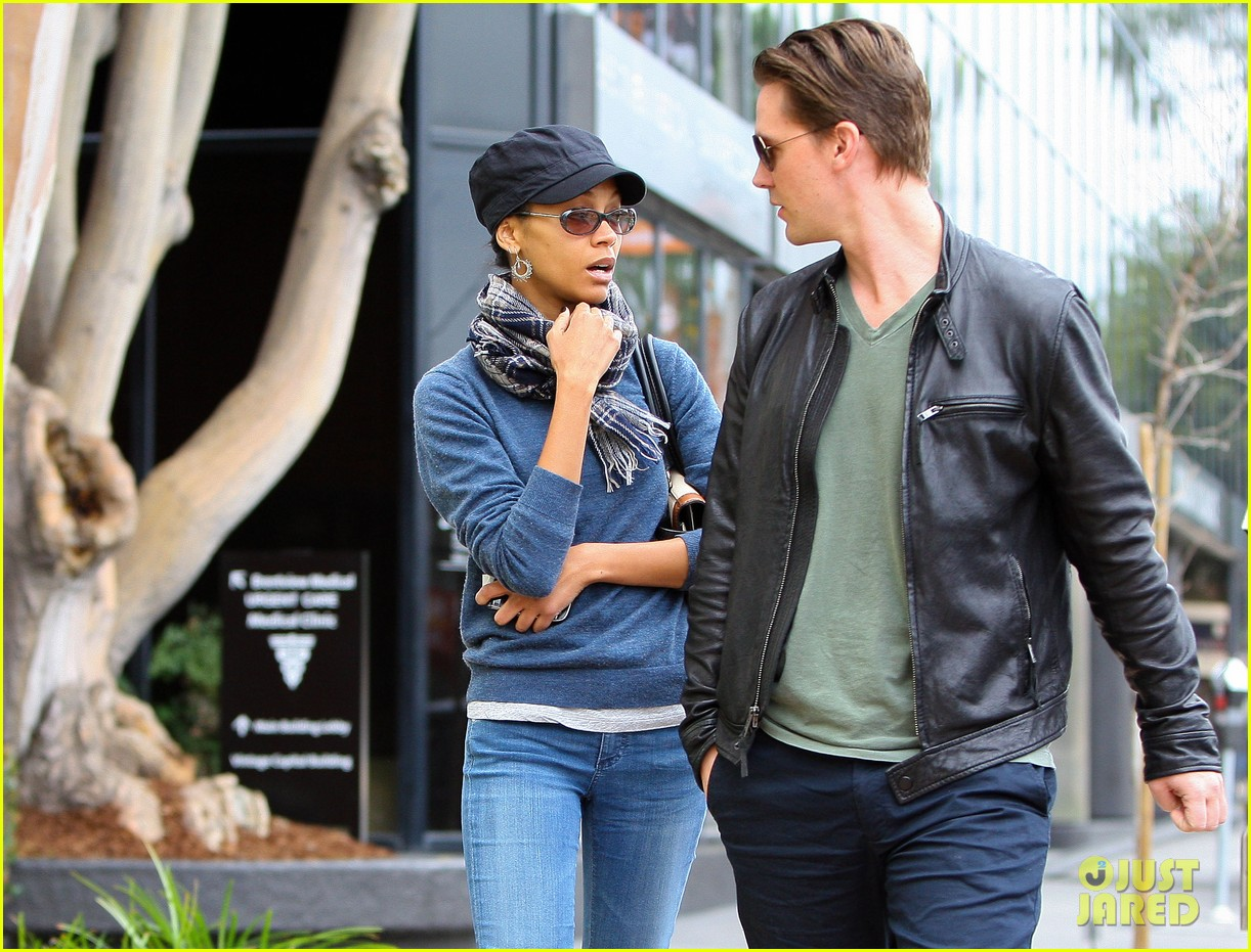 zoe saldana keith britton leave office building 032610928