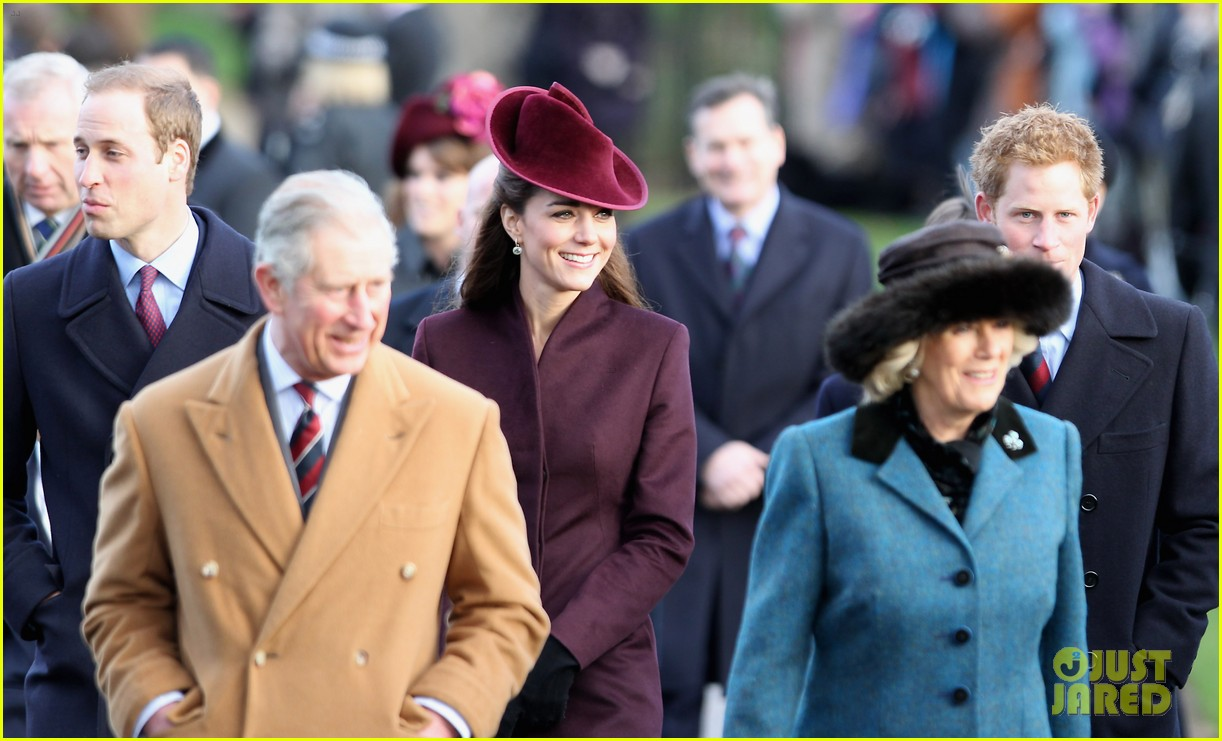 prince william kate christmas day service 272612455