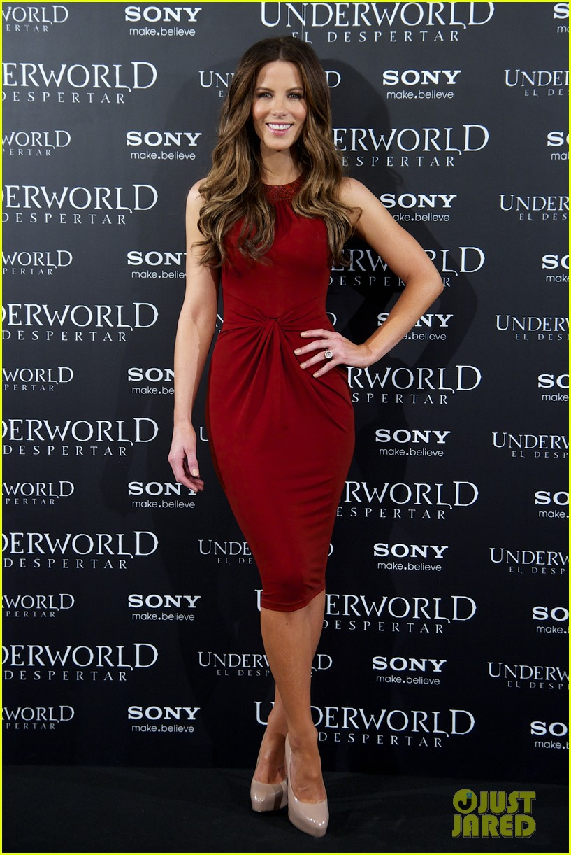 kate beckinsale underworld awakening madrid photocall 05