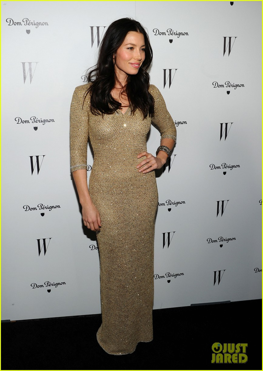 jessica biel charlize theron w mag party 11
