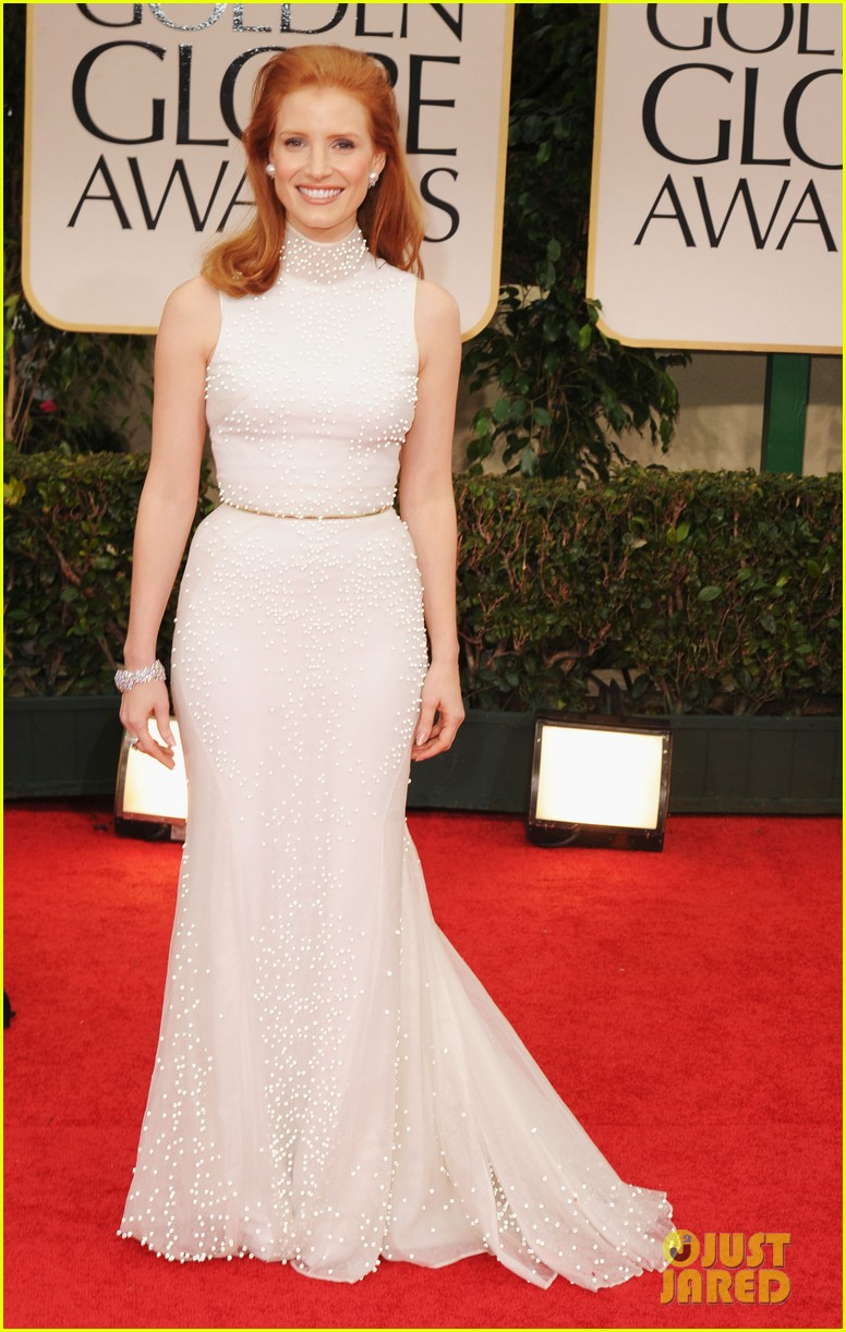 jessica chastain golden globes 2012 01