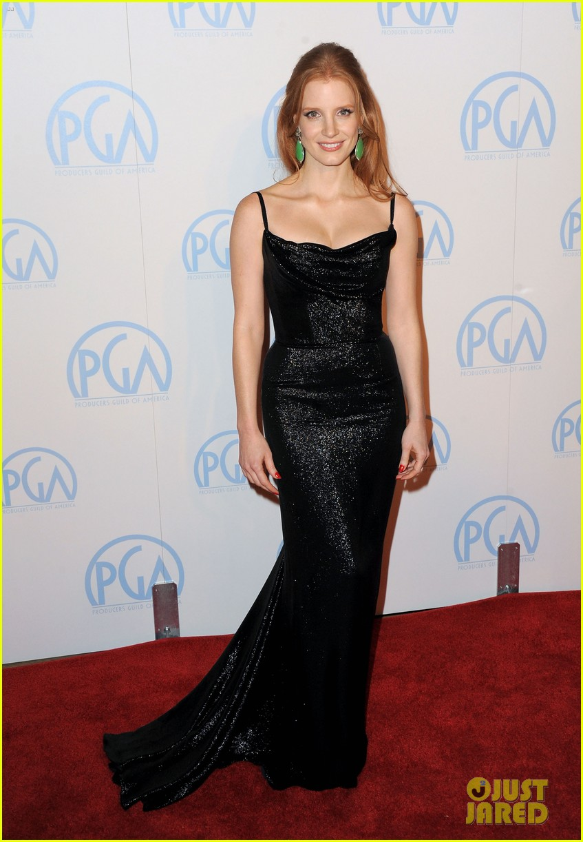 jessica chastain viola davis producers guild awards 01