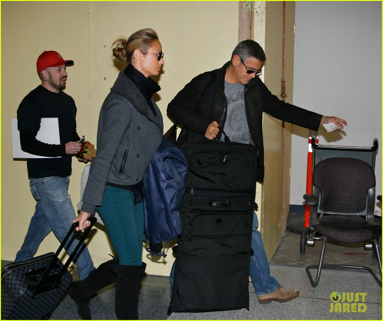 george clooney lax stacy keibler 02