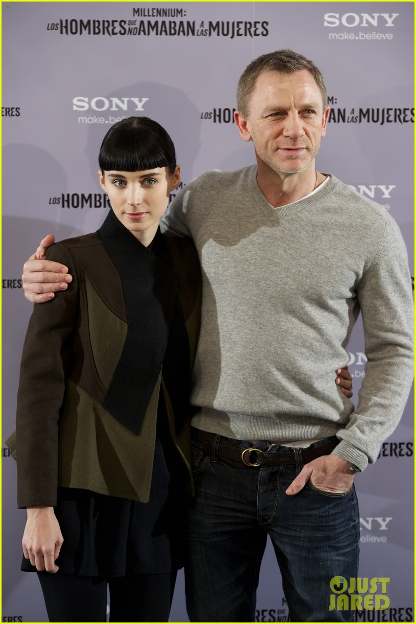 daniel craig rooney mara dragon tattoo madrid photo call 11