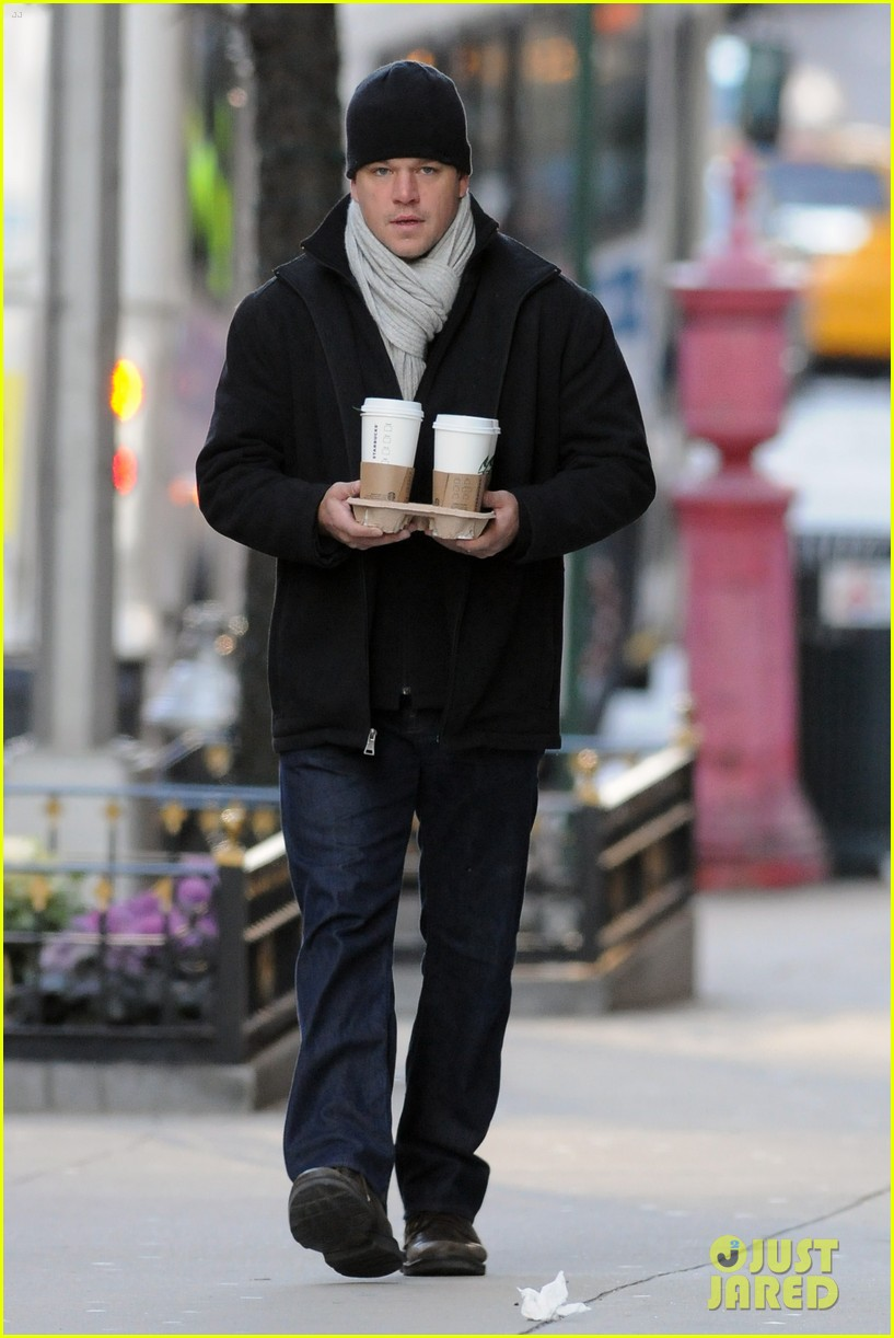 matt damon luciana nyc 02