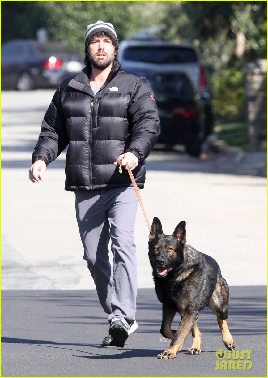 jennifer garner pregnant errands ben affleck walking dog 01