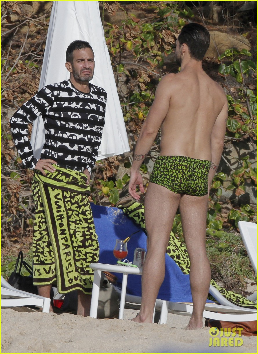 marc jacobs shirtless in st barts on new years day 042613941