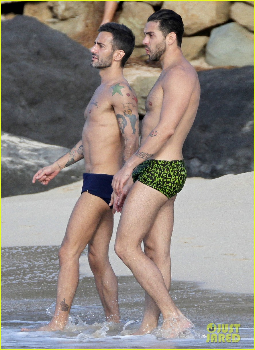 marc jacobs shirtless in st barts on new years day 102613947