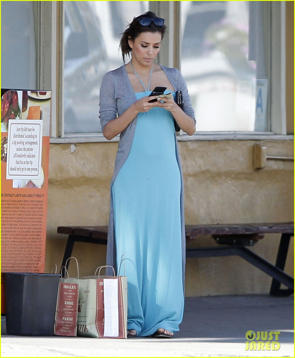 eva longoria blue maxi dress 05