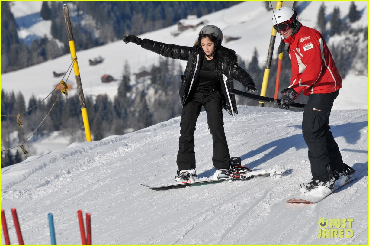 madonna kids skiing switzerland 02