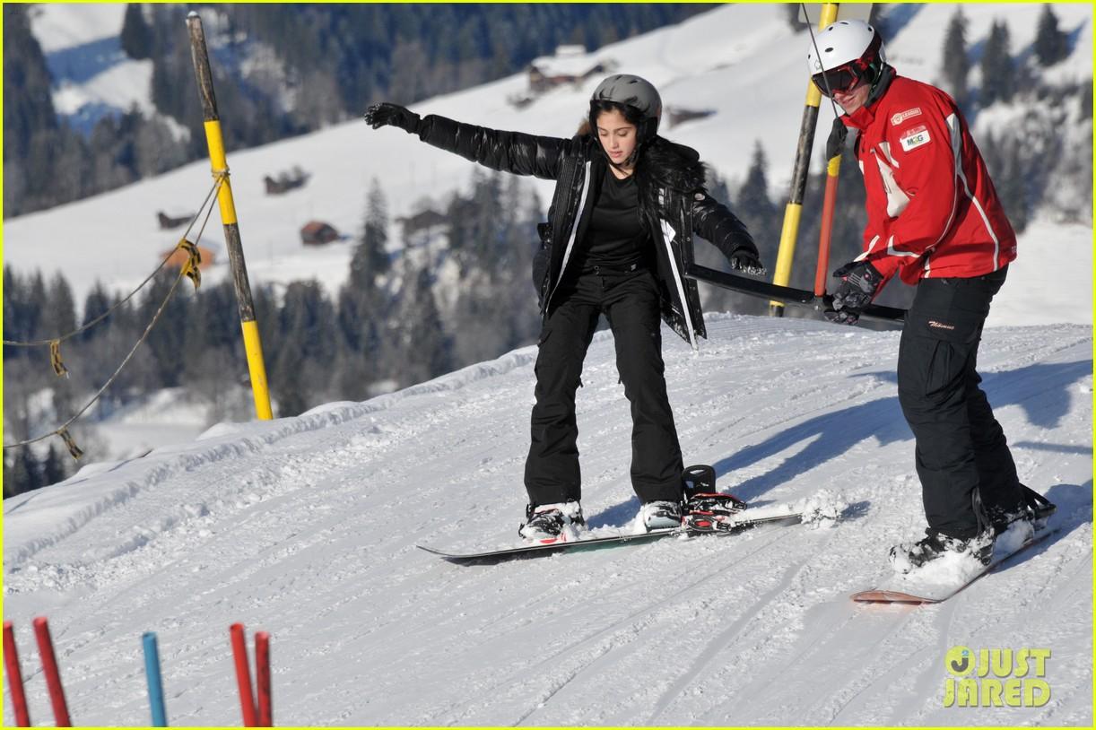 madonna kids skiing switzerland 02