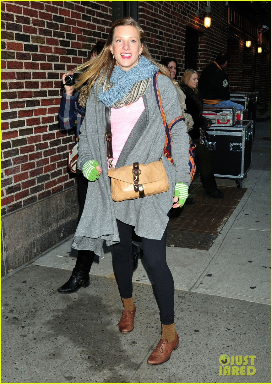 heather morris late show in nyc 09