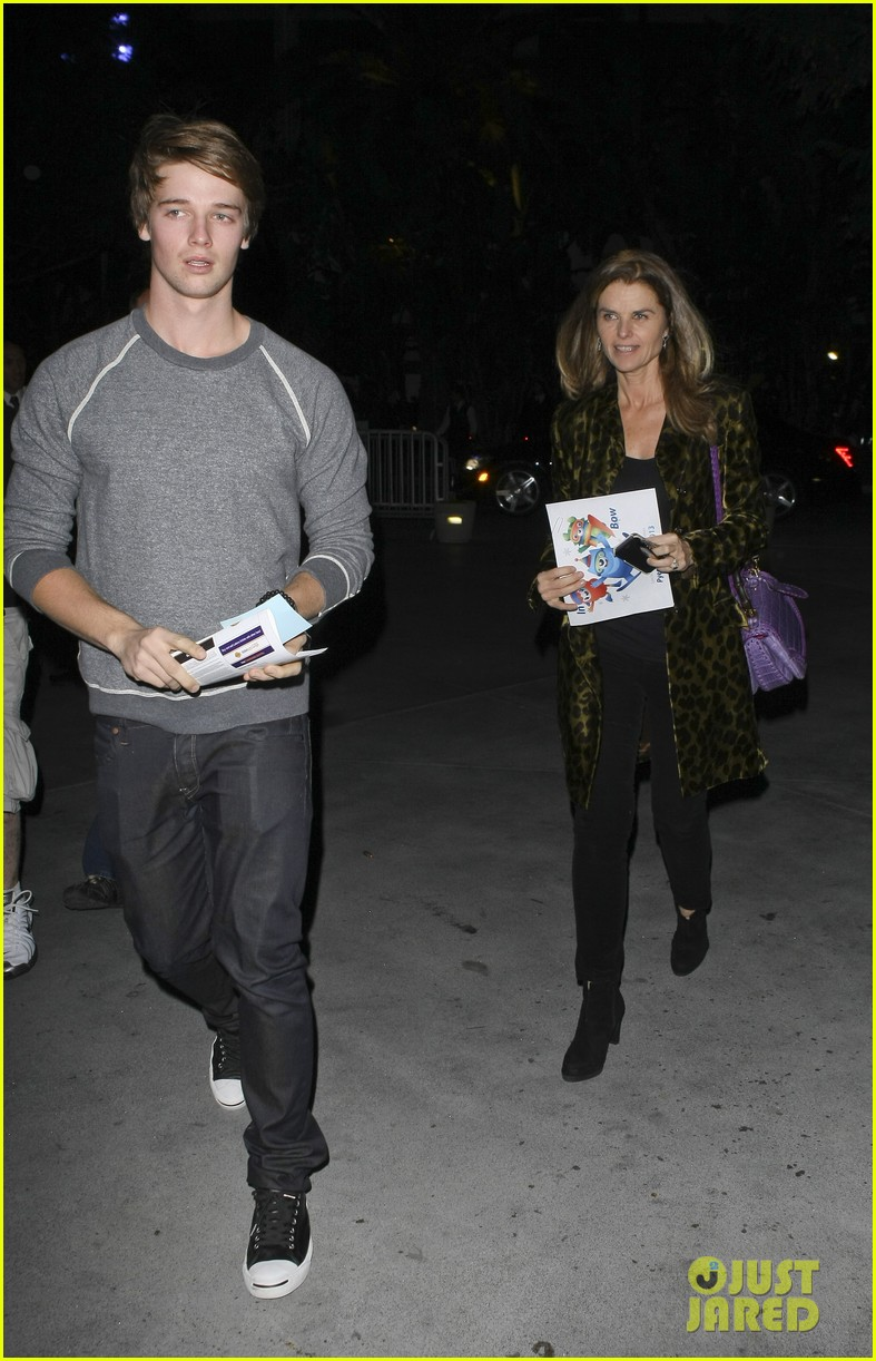 maria shriver patrick schwarzenegger staples center 022619100