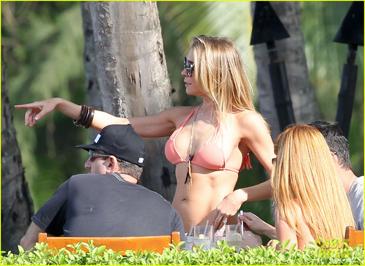 leann rimes orange bikini hawaii 102614547