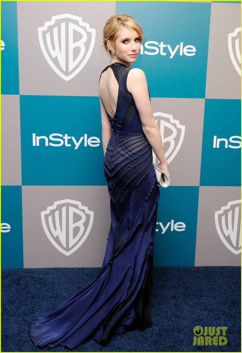 emma roberts chord overstreet golden globes after party 01